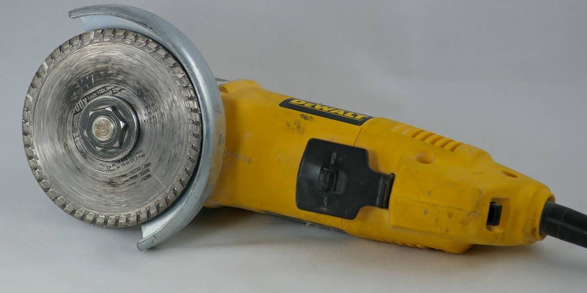 angle grinder with diamond blade