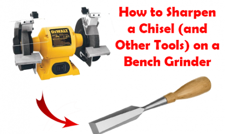how to sharpen chisel on bench grinder