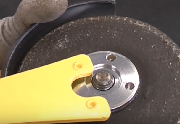 using a wrench key as a lever