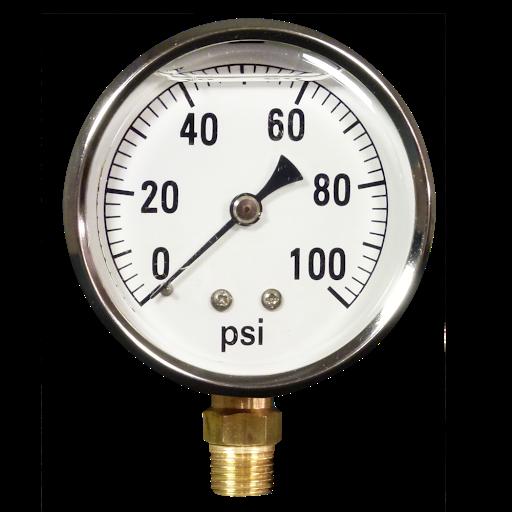 pressure gauge 0 100 psi