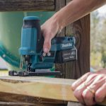 a jigsaw, one of the most essential woodworking power tools