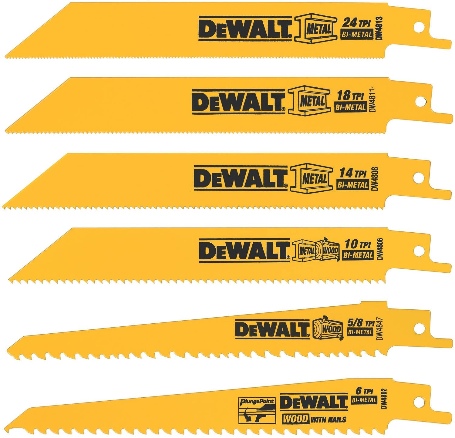 reciprocating saw blades examples amazon.com